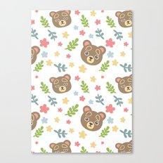 Spring Cute Bear Canvas Print
