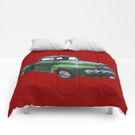 Green 1951 Ford F-1 Pickup Truck  Comforters