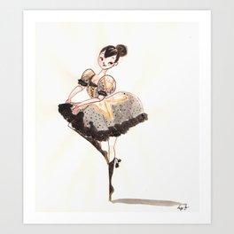 Vogue Ballerina! Art Print