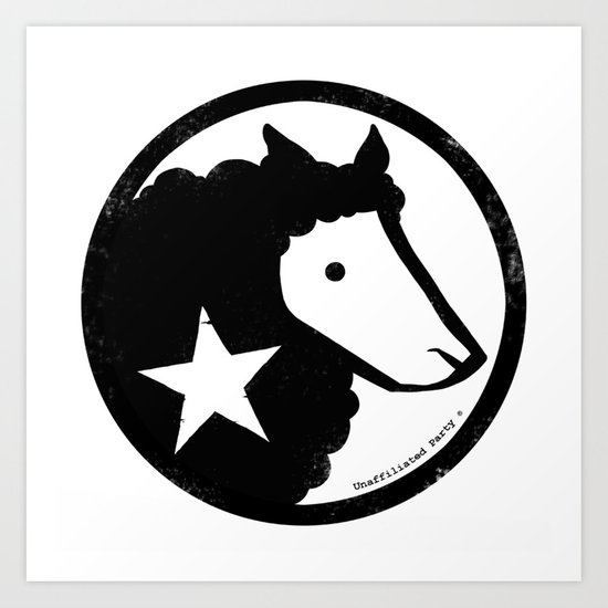Unaffiliated Party Star Art Print