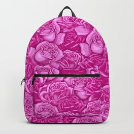 Too Many Pink Roses Backpack