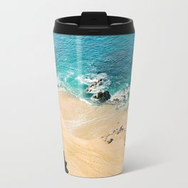 A walk on the beach Travel Mug