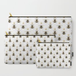 Gold Queen bee / girl power bumble bee pattern Carry-All Pouch