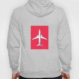 737 Passenger Jet Airliner Aircraft - Crimson Hoody