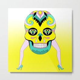 Suga Suga Skull   Metal Print