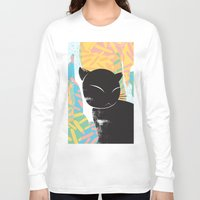 memphis Long Sleeve T-shirts featuring Memphis Cat by kelsosullivan