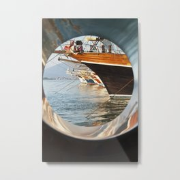 Through the Porthole Metal Print