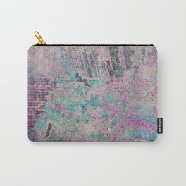 Purple and Blue Textures Carry-All Pouch