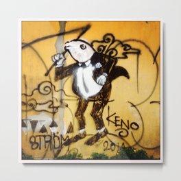 frog in tux Metal Print