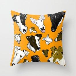 Smooth Fox Terrier - Orange Throw Pillow