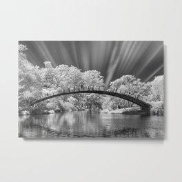 Peaceful Bridge Metal Print
