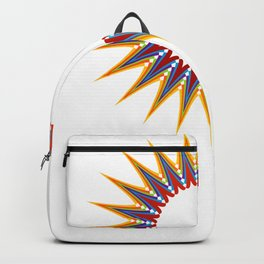 A large Colorful Christmas snowflake- holiday season gifts- Happy new year gifts Backpack