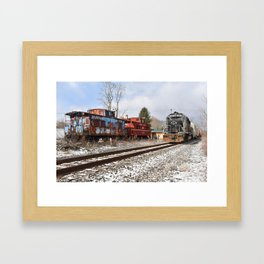 Lehigh Railway @ Milan, Pennsylvania Framed Art Print