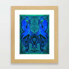 OctoSpeculum #4 - Psychedelic Octopus Fractal Optical Illusion Vibrant Design Framed Art Print