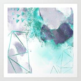 Azure mystique Art Print