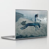 sea horse Laptop & iPad Skins featuring Sea horse by Kestere