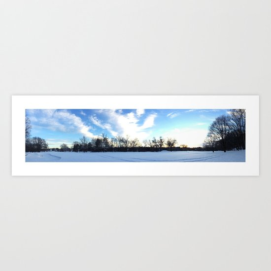 Winter white Art Print