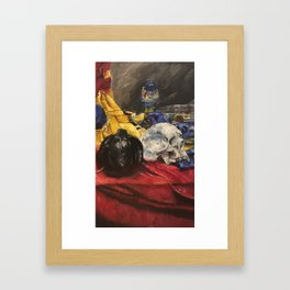 Skull still life 2 Framed Art Print