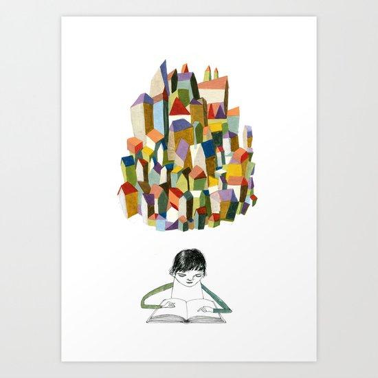 read a city Art Print