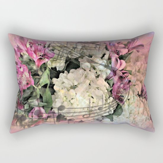 Painterly Spring Splendor Abstract Rectangular Pillow