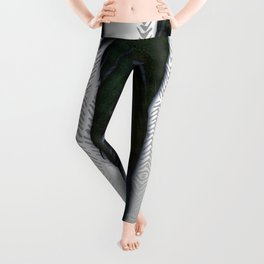 Feathers on silver Leggings