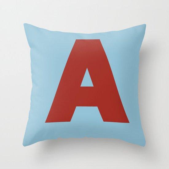 Red A Throw Pillow
