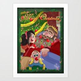 Christmas Beard Art Print