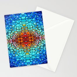Inner Vision - Colorful Spiritual Abstract Art By Sharon Cummings Stationery Cards