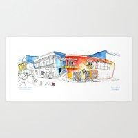 Croquis Calle del Coliseo Cartagena Art Print