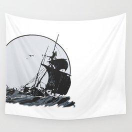 Ship at Sea Wall Tapestry