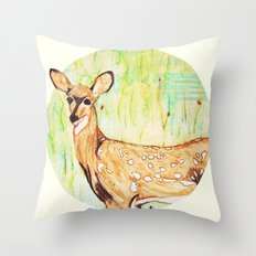 As A Deer Throw Pillow