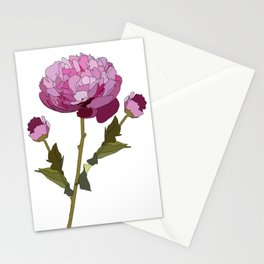 Colorful Peony Stationery Cards