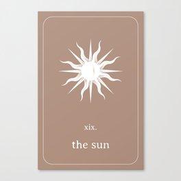 Tarot Card - The Sun Canvas Print