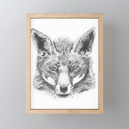 Skeptical Fox Framed Mini Art Print
