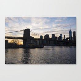 Brooklyn Bridge, Jane's Carousel,  and One World Trade Canvas Print