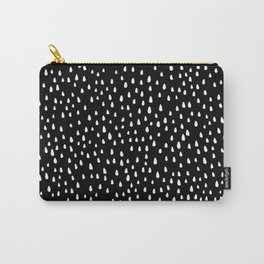 B&W Paint Drops Carry-All Pouch