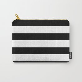 Simply Stripes in Midnight Black Carry-All Pouch