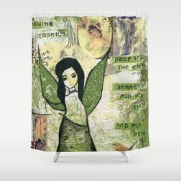 Garden Fairy Shower Curtain