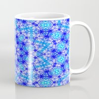 snowflake Mugs featuring Snowflake by Kimberly McGuiness