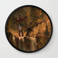 sasquatch Wall Clocks featuring The Sasquatch by TheDiGio