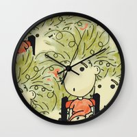 larry Wall Clocks featuring Larry by UberMondoClash