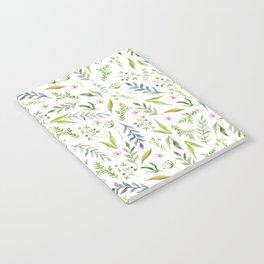 Leaf pattern. Watercolor Notebook