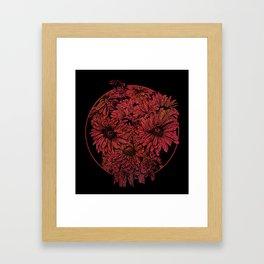 Death Blooms Framed Art Print