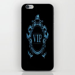 VIP in Blue and Black iPhone Skin