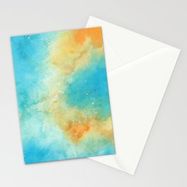 Orange & Blue Galaxy Stationery Cards