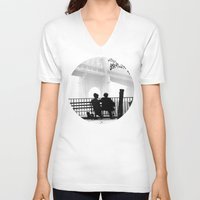manhattan V-neck T-shirts featuring MANHATTAN by VAGABOND