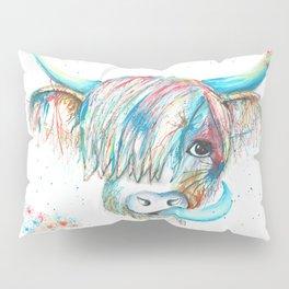 Highland Cattle full of colour Pillow Sham