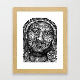 Wisdom Keeper Black and White #55 (Freedom) Framed Art Print