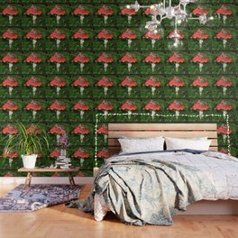Fly agaric in the moss Wallpaper