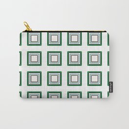 Green Blue With White Tile Carry-All Pouch